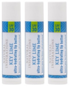 Natural Inspirations Ultra Hydrating SPF 30 Lip Butter 3 Piece Set, Key Lime