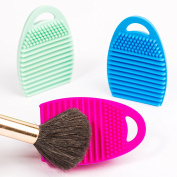 Silicone Makeup Brush Cleaner, Portable, Compact and Lightweight Cosmetic Scrubber, Perfect for Travel with Multipurpose Texture