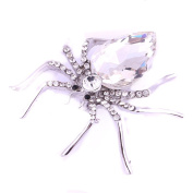Yesiidor Crystal Spider Brooch Luxurious Dazzling Spider Clip Pin Brooch Jewellery Gift