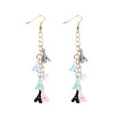 Yesiidor Eiffel Tower Drop Hook Earrings Womens Romantic Tassel Charm Hook Dangle Drop Earrings