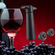 Spritumn Wine & Beverage Bottle Vacuum Saver Pump Preserver with 2 Rubber Vacuum Bottle Stoppers Fits All Bottle Sizes 12cm Black
