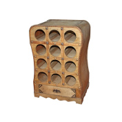 Gravidus in Colonial Style Decorative Wine Rack Holds 12 Bottles
