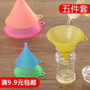 CWAIXX Clear plastic funnel large trumpet-mini home size sets kitchen food-grade soy sauce oil funnel