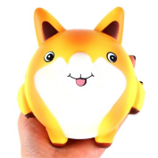 HKFV Superb Unique Creative Lovely Cute Fox Slow Rising Stress Reliever Toys,Cream Scented Squishy Toys Best Goft For Kids