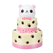 HKFV 11CM Superb Cute Colossal Bear Cakes Lovely Stress Relief Slow Rising Toys,Best Kids Gift Cream Squeeze Scented Cure Stress Reliever Toy