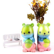 HKFV Slow Rising Toys,Stress Rlief Cute Lovely Rainbow Squirrel Squishy Toys, Squeeze Stress Reliever Toys Best Gift For Kids