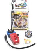 BURST-TOP BLK1. Beyblade style Spinning Top With hand launcher Bey Blade Beyblade style toy