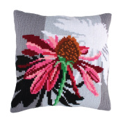 Flower Cushion Front Chunky Cross Stitch Kit