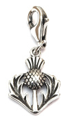 Toucan of Scotland Sterling Silver Official North Coast 500 Thistle Clip On Charm