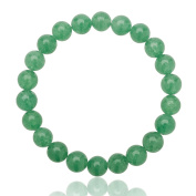Unique healing green Aventurine bracelet with 8mm AAA Grade pearls One Size Fits All with elastic band 16cm to 21cm