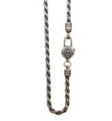 XYLUCKY Vintage Men 925 Sterling Silver Long Necklace