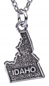 Hip Hop Jewellery Vintage American Map Appaloosa State Idaho Map Alloy Pendant Necklace for Gifts