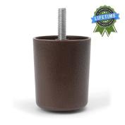 Leg Daddy 5.7cm Brown Round HDPE Plastic Sofa Leg, Set of 4