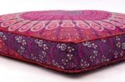 Square Pouffe Cover Mandala Large Cushion Covers Pink Mandala Floor Pillow Covers Hippie Pouffe Cover Mandala Floor Cushion Cover Seating Cushion Cover Ottoman Pouffe Cover Large Pillow Covers 90cm