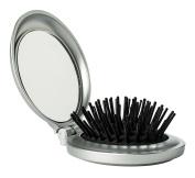 Folding Travel Hair Brush & Mirror - Mini Pop-Up Hairbrush