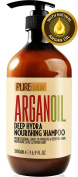 Moroccan Argan Oil Shampoo SLS Sulphate Free Organic - Best for Damaged, Dry, Curly or Frizzy Hair - Thickening for Fine / Thin Hair, Safe for Colour and Keratin Treated Hair
