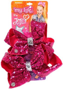 My Life As Jojo Siwa Pink and Silver Sequin Girl and Doll Matching Bow Set