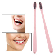 Wheat Straw Toothbrush, Charcoal Toothbrushes Soft with Wheat Straw Handle, Deep Cleaning Teeth for Adult