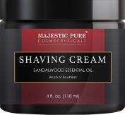Majestic Pure Sandalwood Shaving Cream, Smooth Close Shave, 120ml