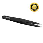 Superior Slant Tweezers - Professional Stainless Steel Slant Tip Tweezers-The Best Precision Eyebrow Tweezers