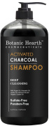 Botanic Hearth Activated Charcoal Shampoo, Sulphate Free - Daily Clarifying and Cleansing Hair Shampoo for Men and Women