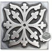 Arizona Hot Dots Inc. Decorative Metal Accent Tiles, 5.1cm x 5.1cm Square Dots - Pewter
