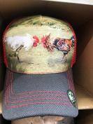 PITBULL BIG BEAR COCKFIGHT ROOSTER CHICKEN FIGHTING BASEBALL CAP HAT