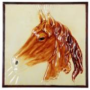 Benzara BM165468 Brown Metal Horse Wall Art