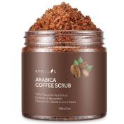Aprilis Arabica Coffee Scrub | 100% Natural Exfoliate/Peeling/Deep Cleanser with Anti-Inflammatory & Sun Damage Repairing Caffeine Against Age Spots and Accelerated Skin Ageing | 350ml