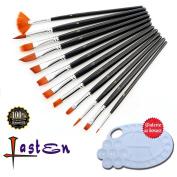 Lasten Paint Brush Set, Professional Paint Brushes Nylon Hair Artist Acrylic Brush for Watercolour Oil Acrylic Gouache Painting