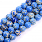 "iSTONE Natural Gemstone Round Beads 16"" For Jewellery Making"