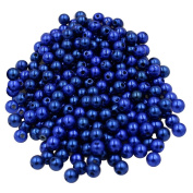 Baoblaze 130 Pieces Multi-coloured 8mm ABS Plastic Pearl with Hole Beads Accessories DIY Crafts - Dark Blue