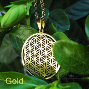Flower of Life Pendant Sacred Geometry Silver Chain Necklace Tassel Earrings u Gold
