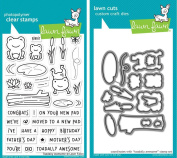 Lawn Fawn Clear Stamp and Coordinating Dies - Toadally Awesome (2 Item Bundle LF1581, LF1582(