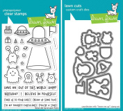 Lawn Fawn Beam Me Up Clear Stamp and Coordinating Die Set - 2 Piece Bundle