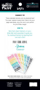 DaySpring Illustrated Faith Tiny Colourful Alphas Clear Sticker Booklet
