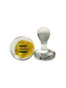 The Press Club Rosin Stamp • Solid Glass • Wax Art Collector • 4.4cm x 3.8cm
