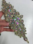 Bridal Wedding Dress Sash Belt Applique with AB Stone Belt Waist Decoration rhinestone bridal sash for bridal shower