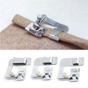 ANYQOO 3 Sizes Rolled Hem Pressure Foot Sewing Machine Presser Foot Hemmer Foot Set (1/ 5.1cm , 3/ 10cm , 2.5cm ) for Singer, Brother, Janome And Other Low Shank Adapter
