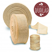 Burlap Ribbon {7.6cm x 50 Yards LONG} Burlap Roll with TWINE! Perfect Burlap Ribbons for Weddings, Tie-backs, Sashes, Wreaths, Bows, Gift Wrap, Tree Wrapping, & Crafts!