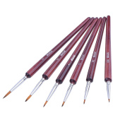 6 Pieces Detail Paint Brush Set Miniature Brushes for Watercolour and Acrylic Painting