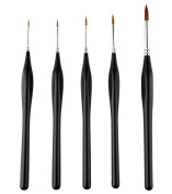 Detail Paint Brushes Set Artist Paint Brushes Painting Supplies for Art Watercolour Acrylics Oil, 5 Pieces.
