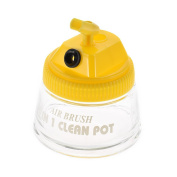 Aibecy Glass Airbrush Air Brush Cleaning Pot Bottle Container with Plastic Lid Holder Dropper 700ml