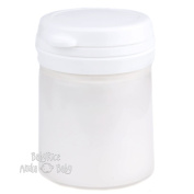 White Metallic Paint Pot 100ml Arts and Crafts Cast Painting Acrylic Water Based