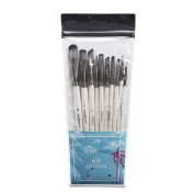 Art Paint Brush Set for Watercolour, Acrylics, Oil & Face Painting - 10 Professional Paint Brushes for Artists from the Craftamo Elements Collection