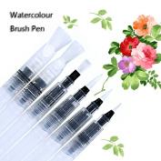 Laconile 6Pcs Watercolour Brush Pen Set Art Waterbrush Paintbrush Pen Soft Brush Tips Refillable Painting Calligraphy Drawing Pen