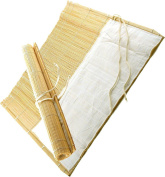 BR-801N Bamboo Brush Roll with Cloth Pockets