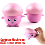 Jumbo Squishies - MORWIND Stress Relief Toys for Adults Kids Squishies Slow Rising Jumbo Q Cartoon Mushroom Garlic Scented Cream Squeeze