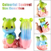 1Pcs Jumbo Squishy, - MORWIND Squishy Rainbow Squirrel Scented Cream Slow Rising Squeeze Stress Reliever Toys Stress Relief Toy Decorations Cream Scented Toys For Kids and Adults
