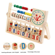 Kids Boy Toy Girl Baby Learning Early Educational Development Abacus Wooden Toys US